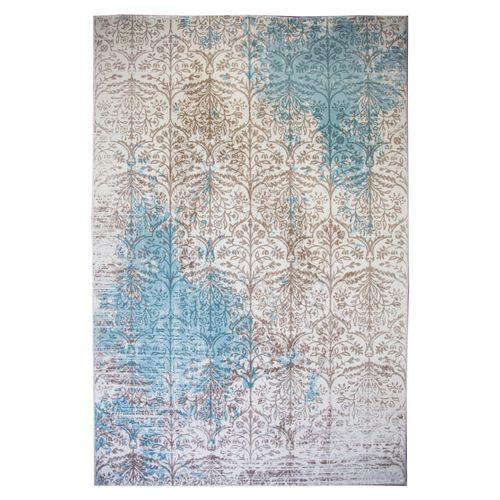 فرش ماشینی ساوین کد 1514 زمینه آبی