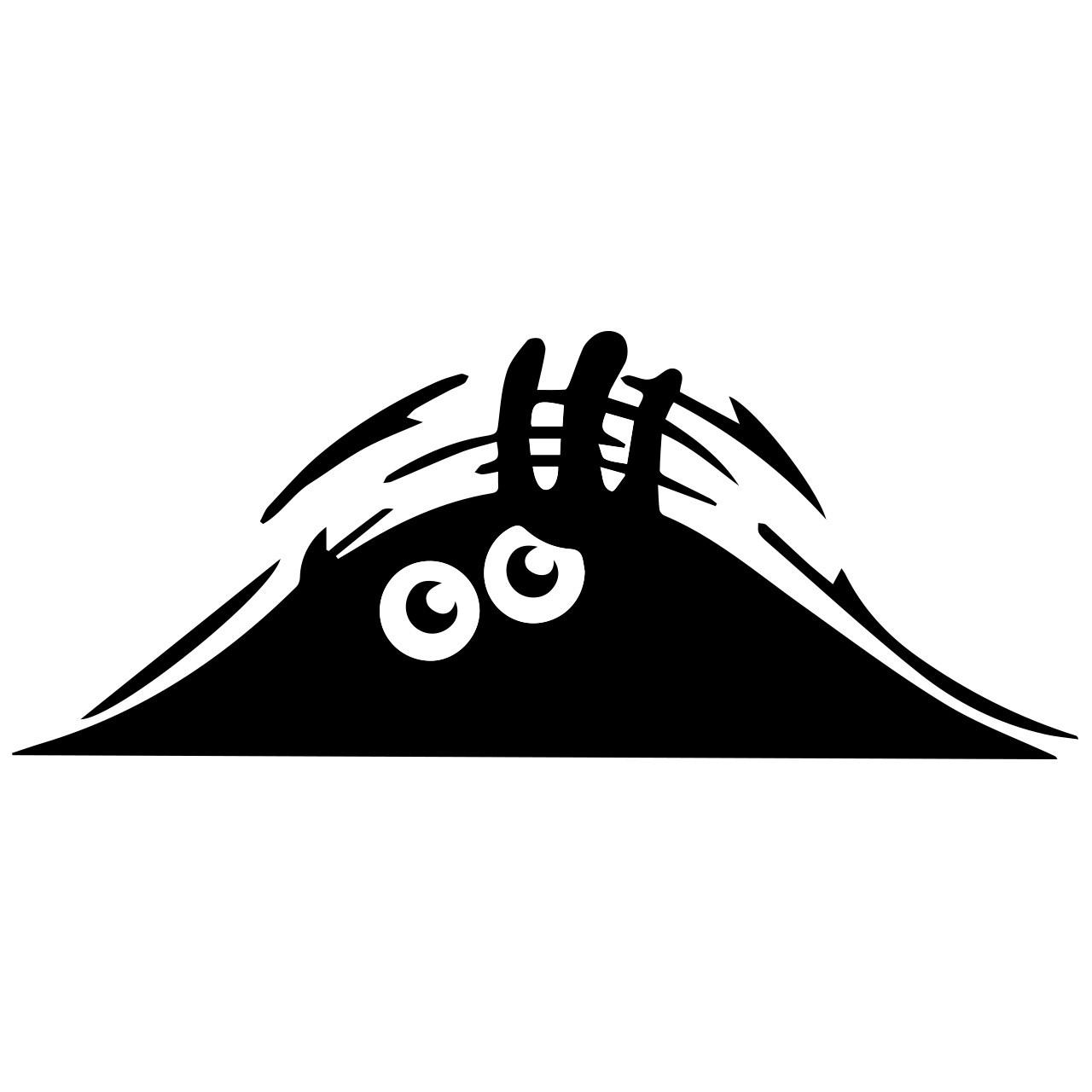استیکر خودرو گراسیپا  مدل هیولای سیاه