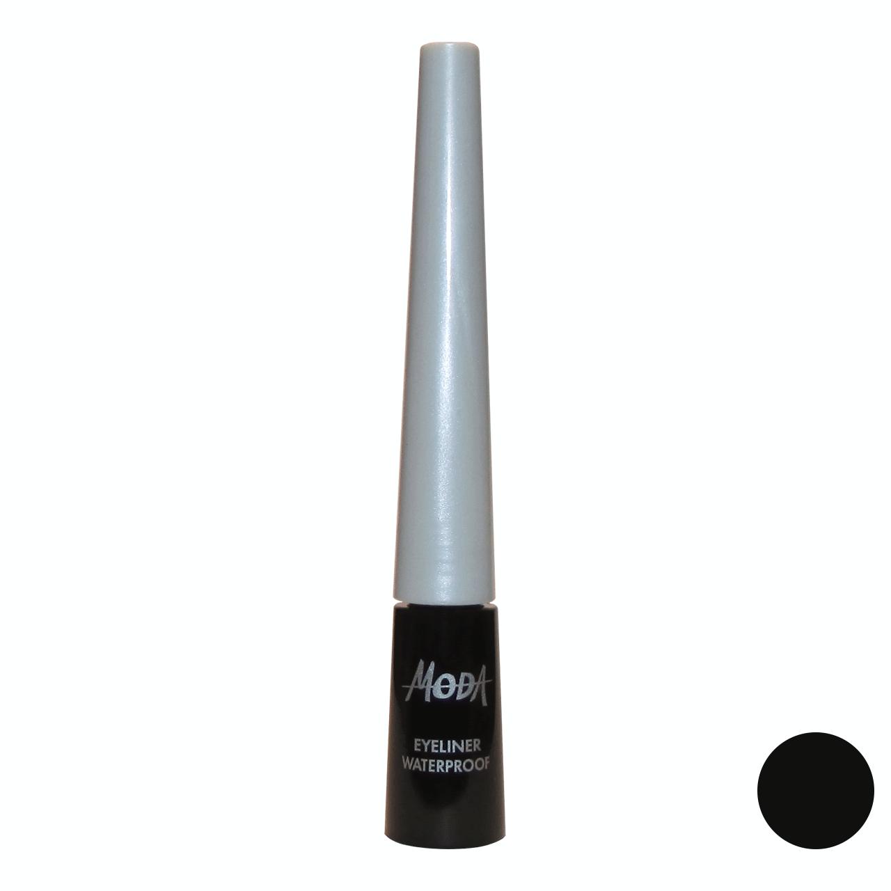 خط چشم مودا مدل eyeliner waterproof