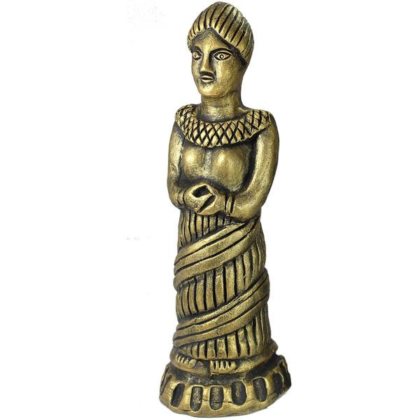 مجسمه زن سفالی گالری دست نگار  پتینه 196-00