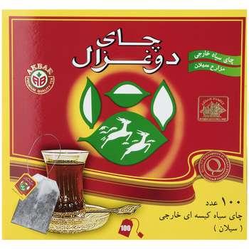 چای کیسه ای دو غزال مدل Ceylon بسته 100 عددی