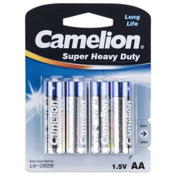 باتری قلمی کملیون مدل Super Heavy Duty بسته 4 عددی | Camelion Super Heavy Duty AA Battery Pack of 4