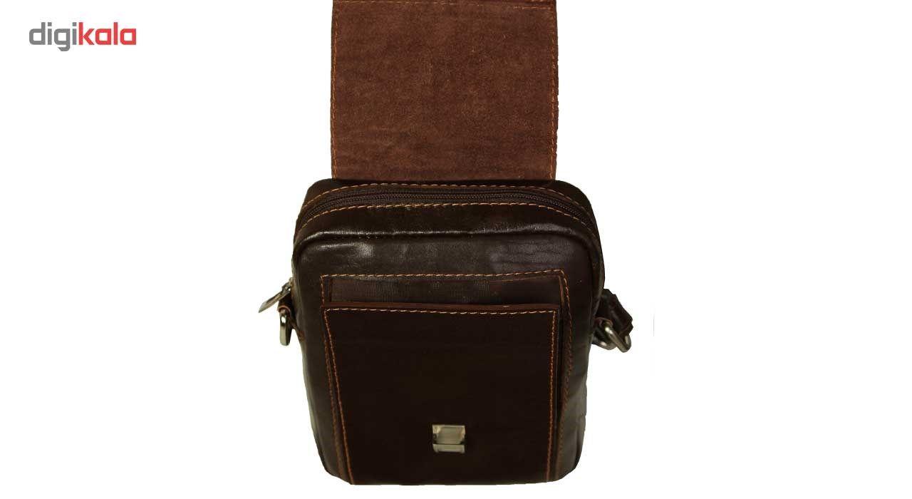 کیف رو دوشی زانکو چرم مدل KD-132 -  - 4