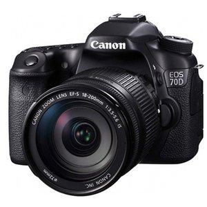 دوربین عکاسی کانن EOS 70D+لنز18-200 میلی متر
