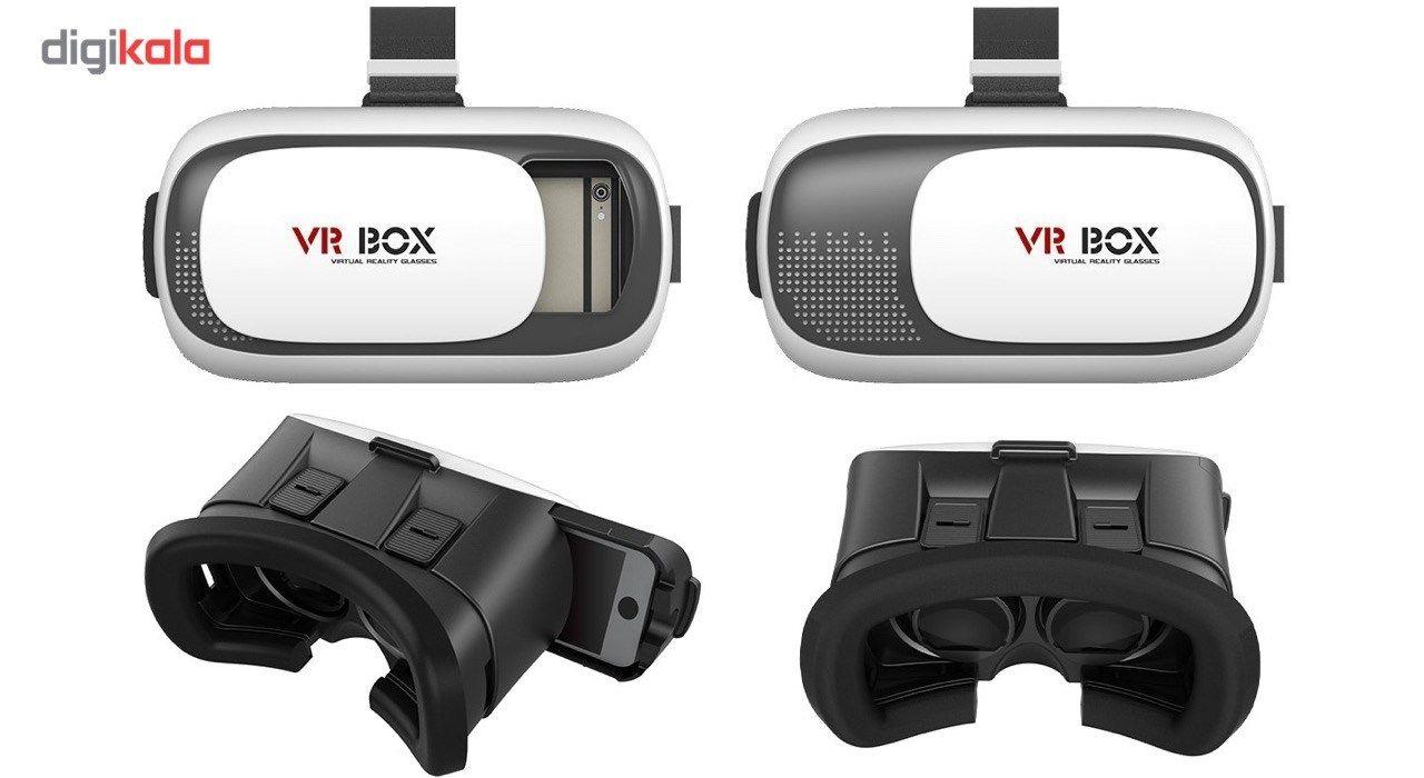 هدست واقعیت مجازی وی آر باکس مدل VR Box 2 به همراه ریموت کنترل بلوتوث و DVD  نرم افزار  و USB LED هدیه main 1 5