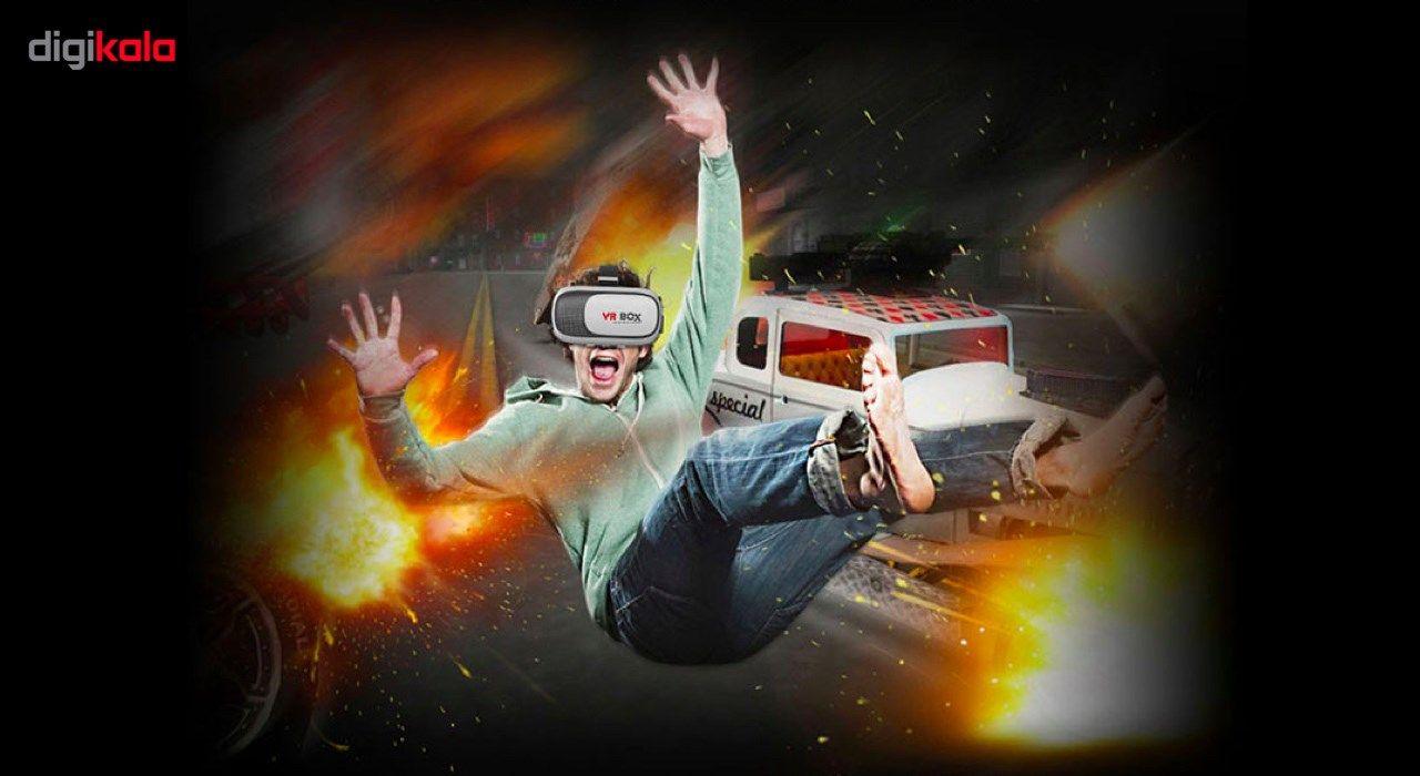 هدست واقعیت مجازی وی آر باکس مدل VR Box 2 به همراه ریموت کنترل بلوتوث و DVD  نرم افزار  و USB LED هدیه main 1 7