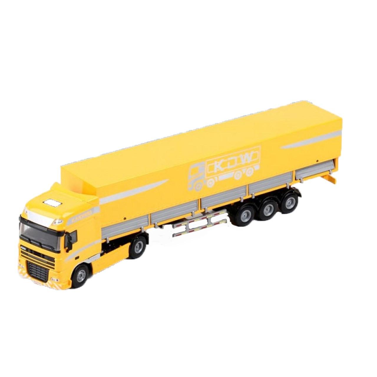 ماشین بازی کایدیوی طرح کامیون ترانزیت مدل Tent Platform Transporter