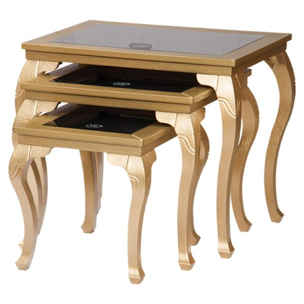میز عسلی سهیل کد 0050TA مجموعه سه عددی