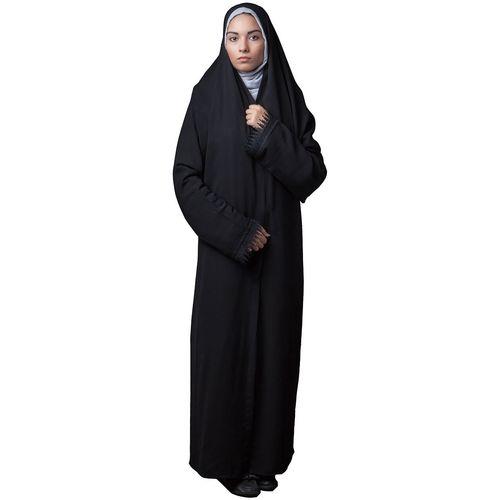 چادر ملی کرپ حریر اسود حجاب فاطمی مدل 201011hr
