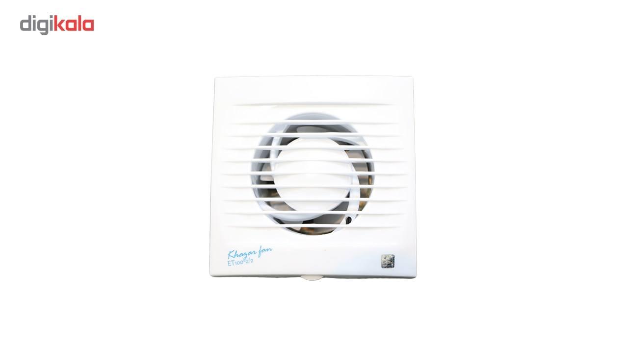 هواکش خانگی خزر فن سری Turbo مدل T100 main 1 2