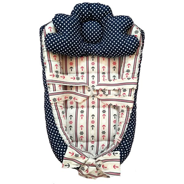 سرویس 3 تکه خواب نوزادی تاپ دوزانی مدل ملانی