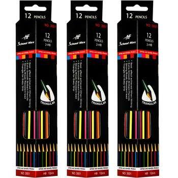 مداد مشکی ای اف اسکول مکس مدل 3001 - 3 بسته 12 عددی