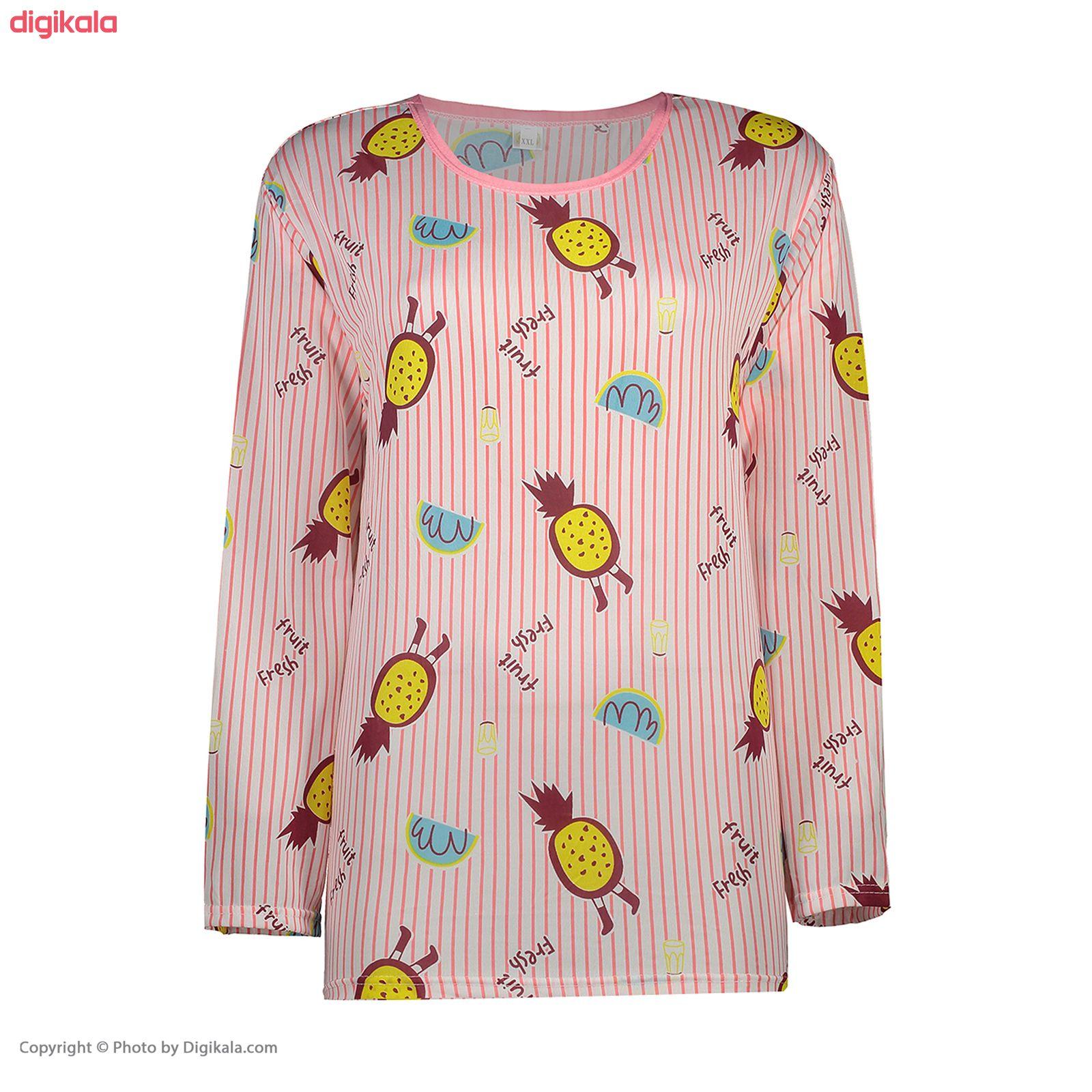 ست تی شرت و شلوار زنانه کد klnqsh- blzpnt.006.2 main 1 2