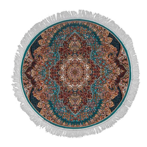فرش ماشینی شاهکار مشهد طرح نارمک ارکیده زمینه آبی