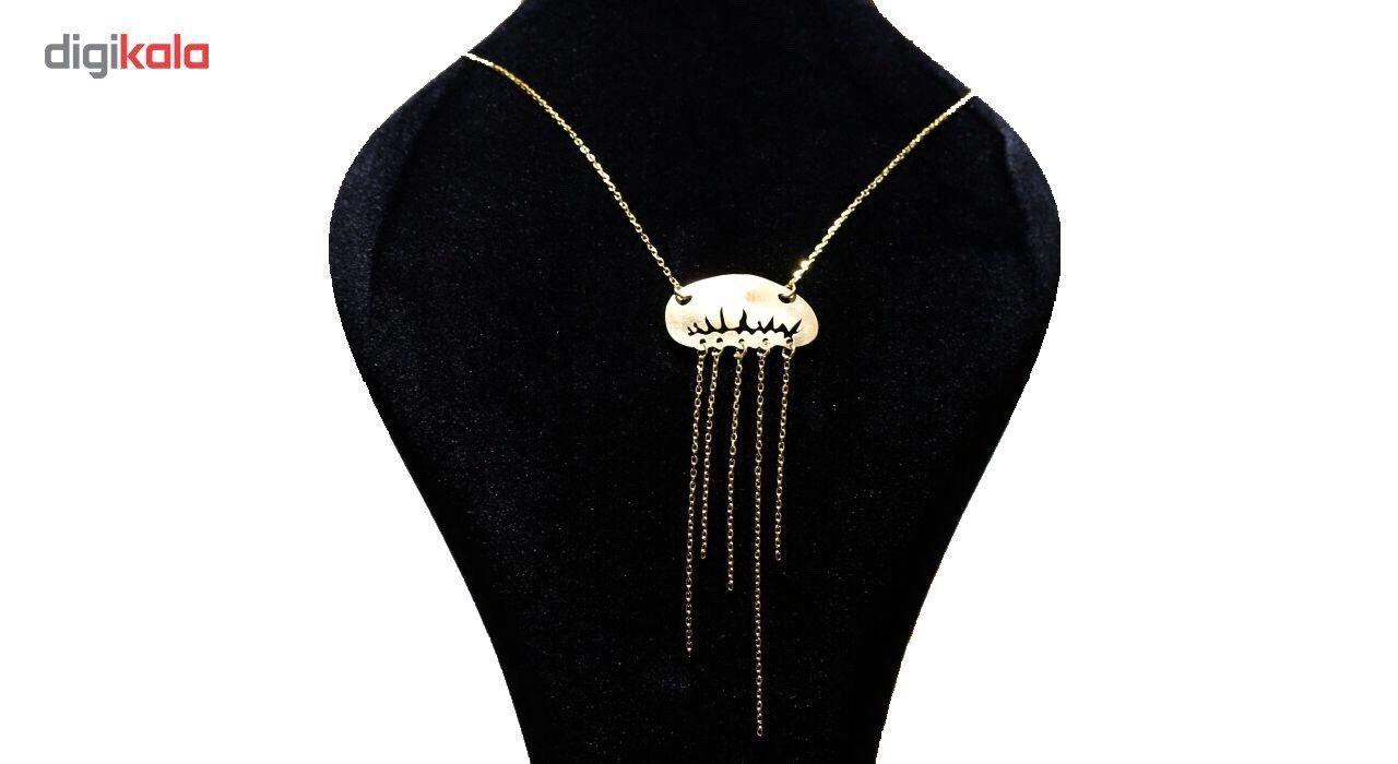 گردنبند نقره ووج مدل عروس دریایی -  - 2