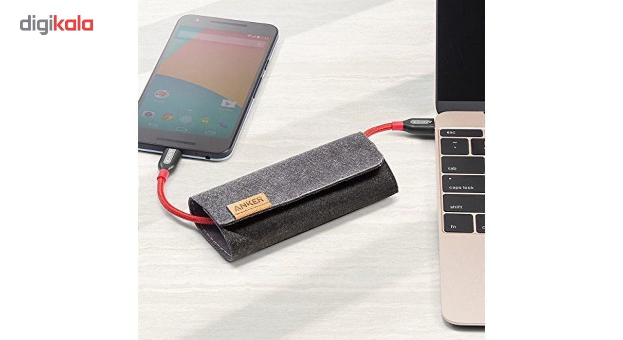 کابل تبدیل USB-C به USB-C انکر مدل A8187 Powerline Plus طول 0.9 متر main 1 5