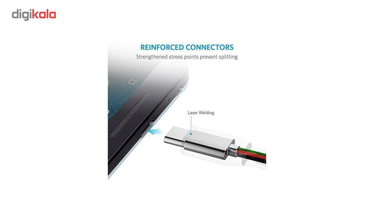 کابل تبدیل USB-C به USB-C انکر مدل A8187 Powerline Plus طول 0.9 متر main 1 7
