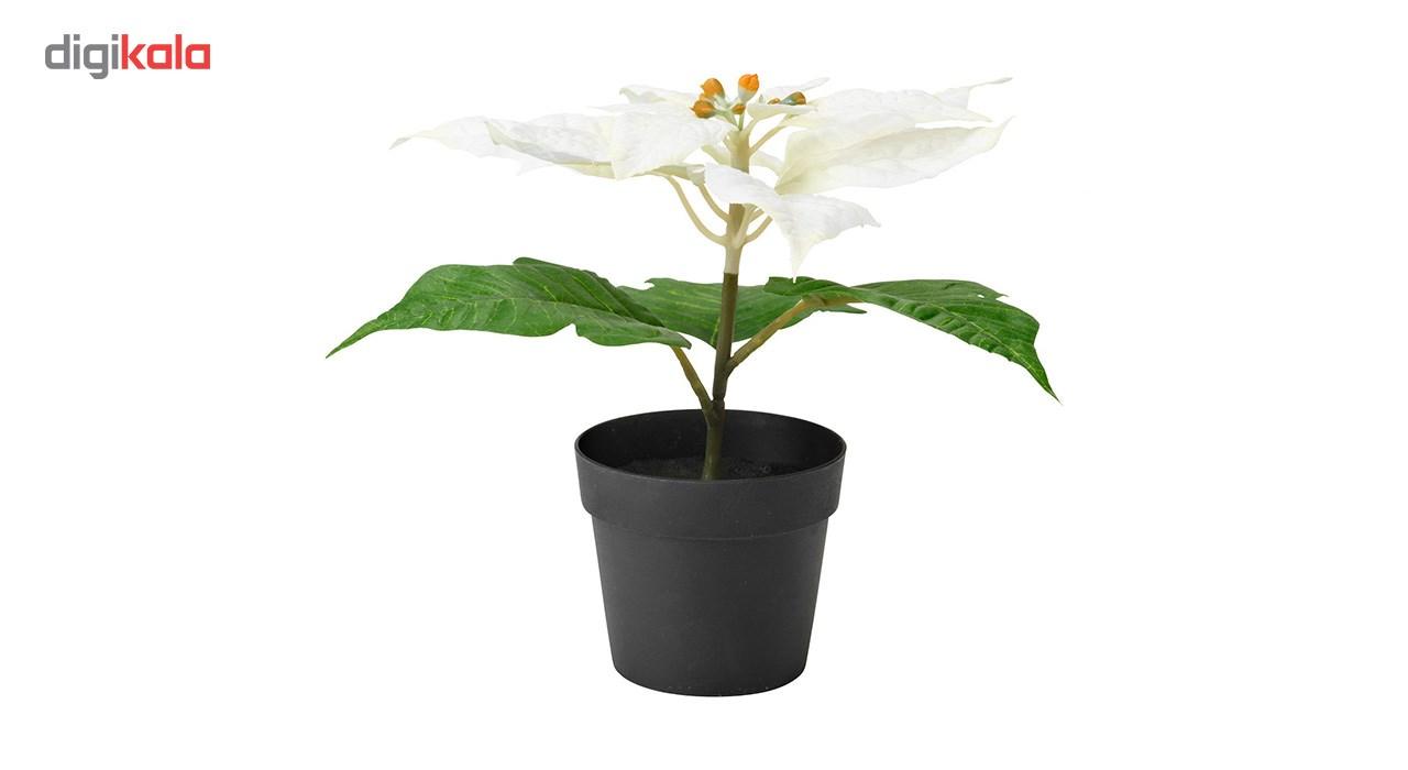 گلدان به همراه گل مصنوعی ایکیا مدل White Fejka main 1 1