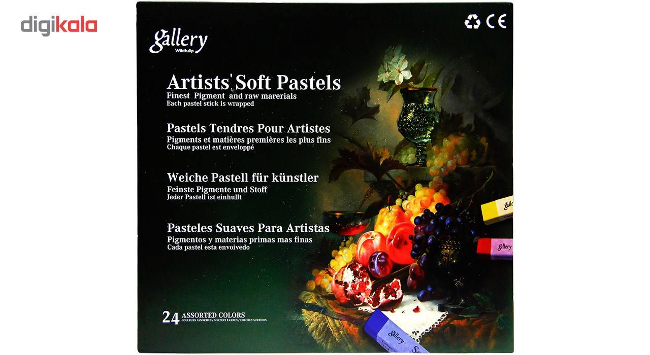 پاستل گچی 24 رنگ وایلد تولیپ مدل Gallery main 1 1