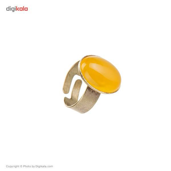 انگشتر ناردونه مدل بیضی زرد -  - 1