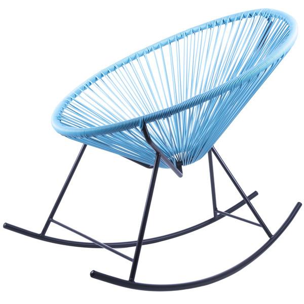 صندلی کروماتیک مدل  Rocking Blue PE Rattan