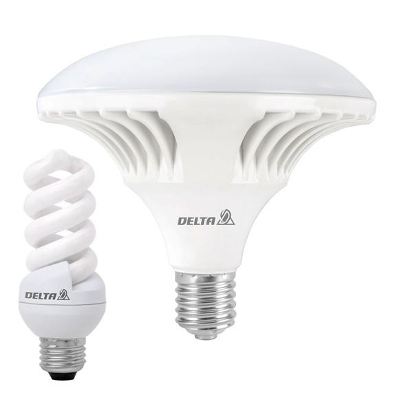لامپ ال ای دی 50 وات دلتا مدل رویال پایه E27  به همراه لامپ 11 وات کم مصرف