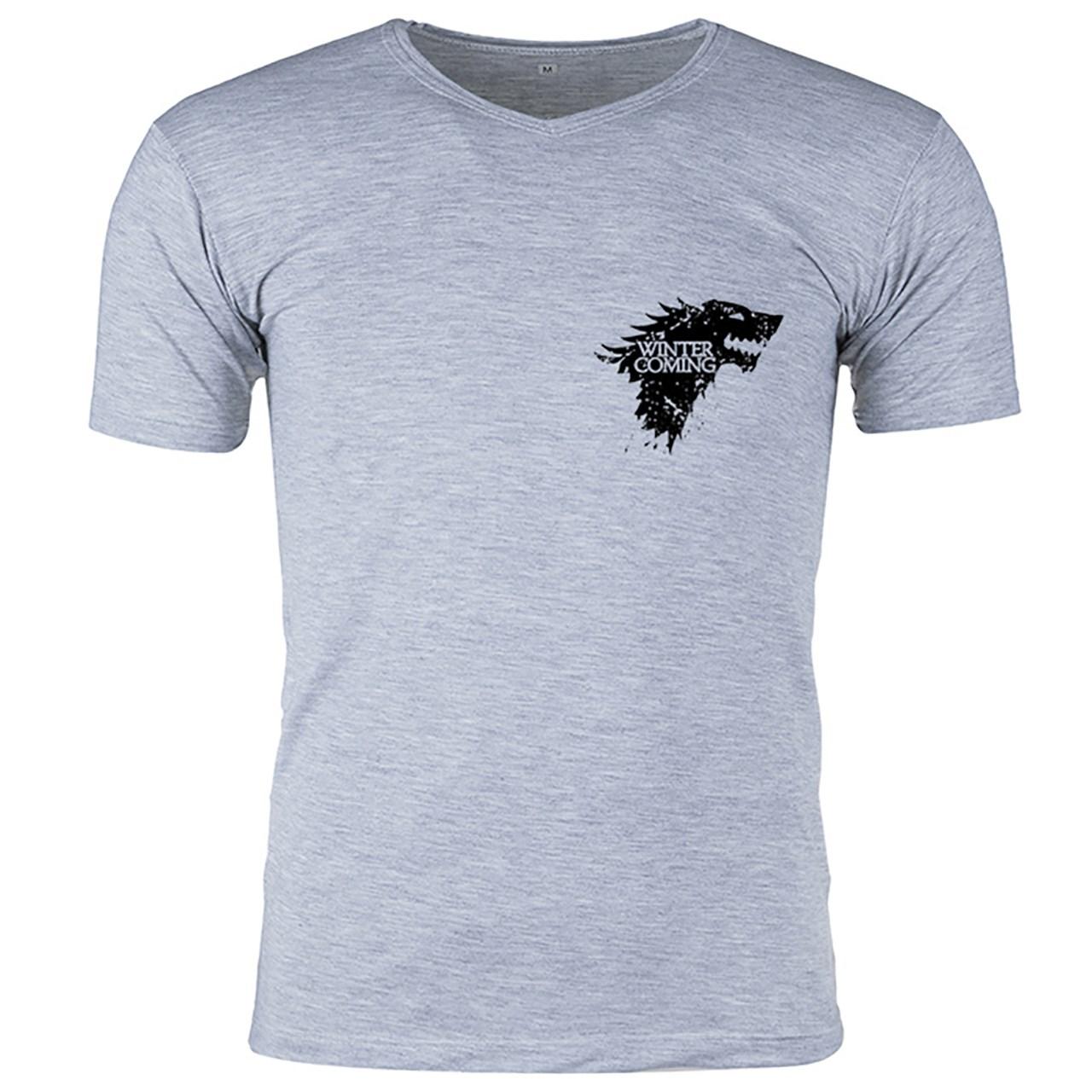 تی شرت ملانژ مردانه گالری واو - طرح Game of thrones- کد CT80101Z