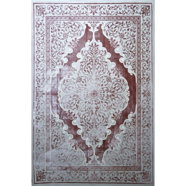 فرش ماشینی مهتاب پارسیان طرح صوفیا زمینه صورتی