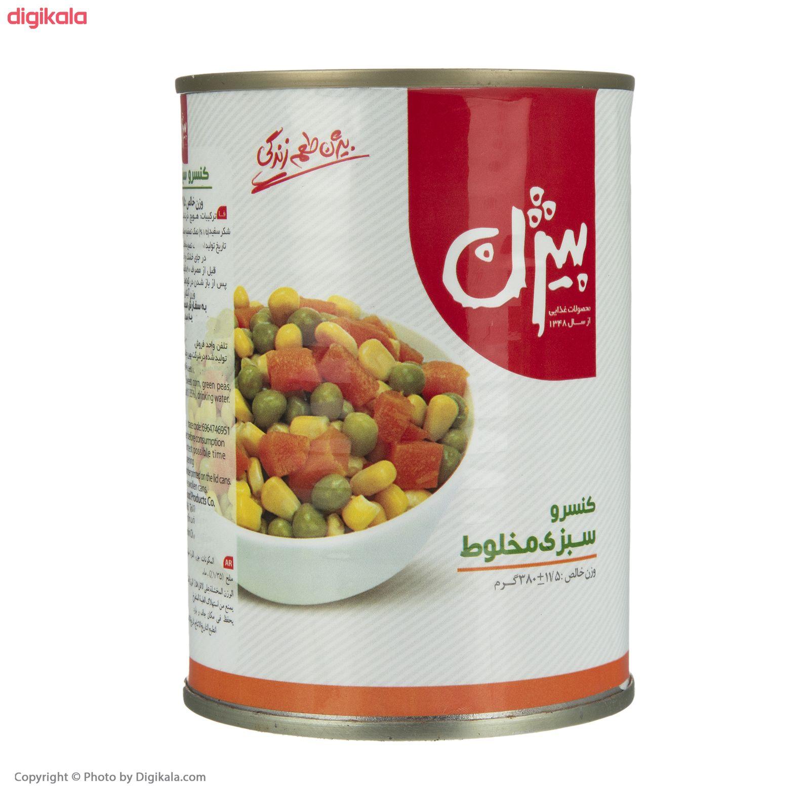 کنسرو سبزی مخلوط بیژن - 380 گرم main 1 1