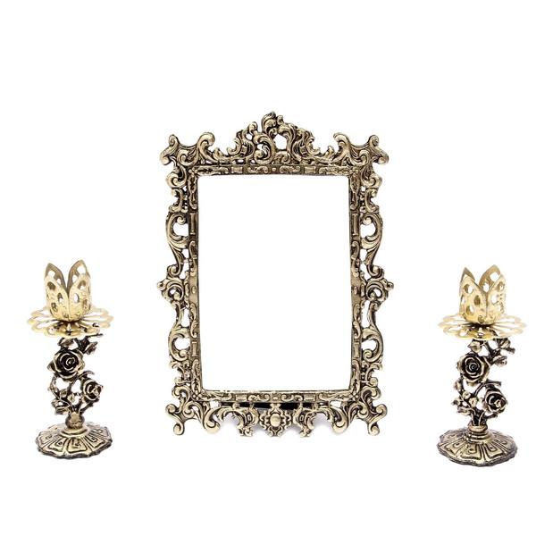آینه و شمعدان هفت سین آرت کن مدل AB402