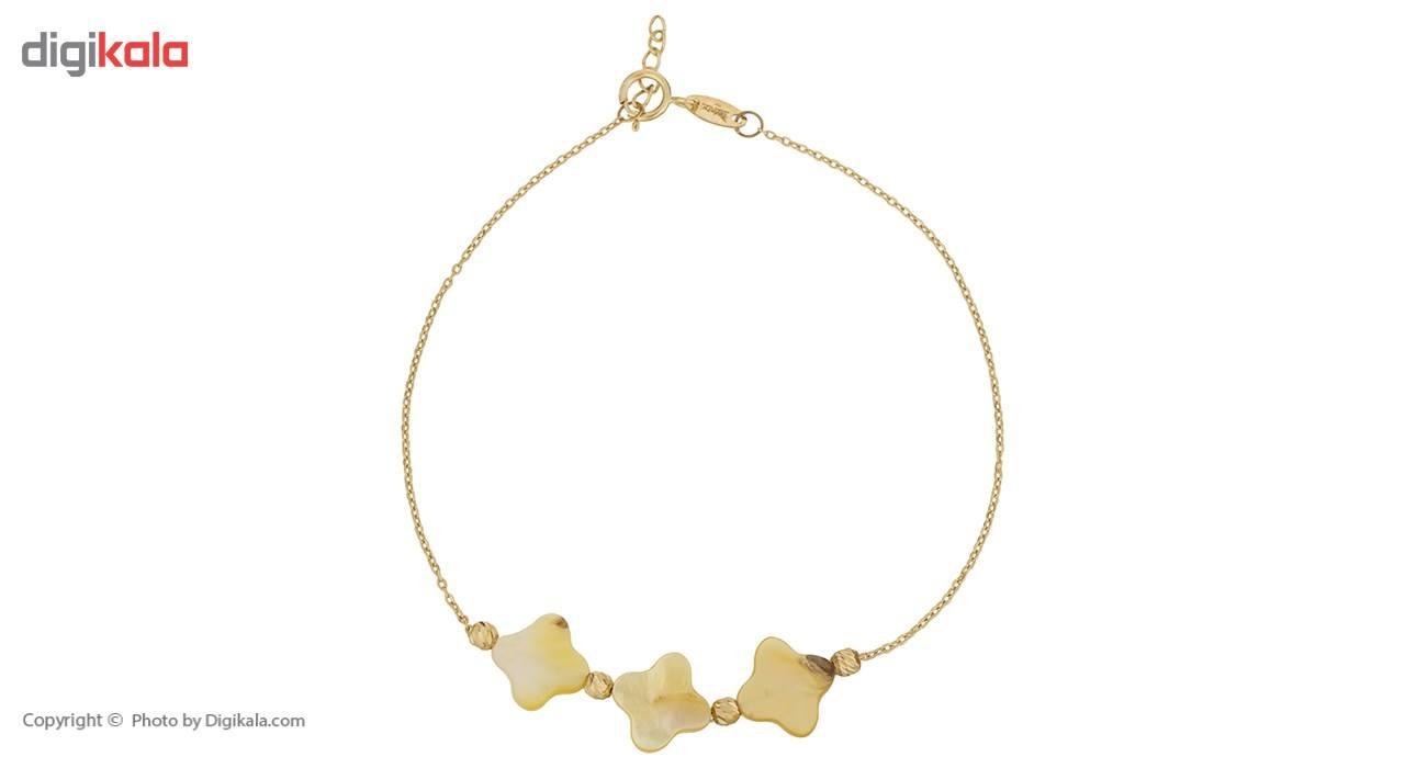 دستبند طلا 18 عیار ماهک مدل MB0293 - مایا ماهک -  - 2