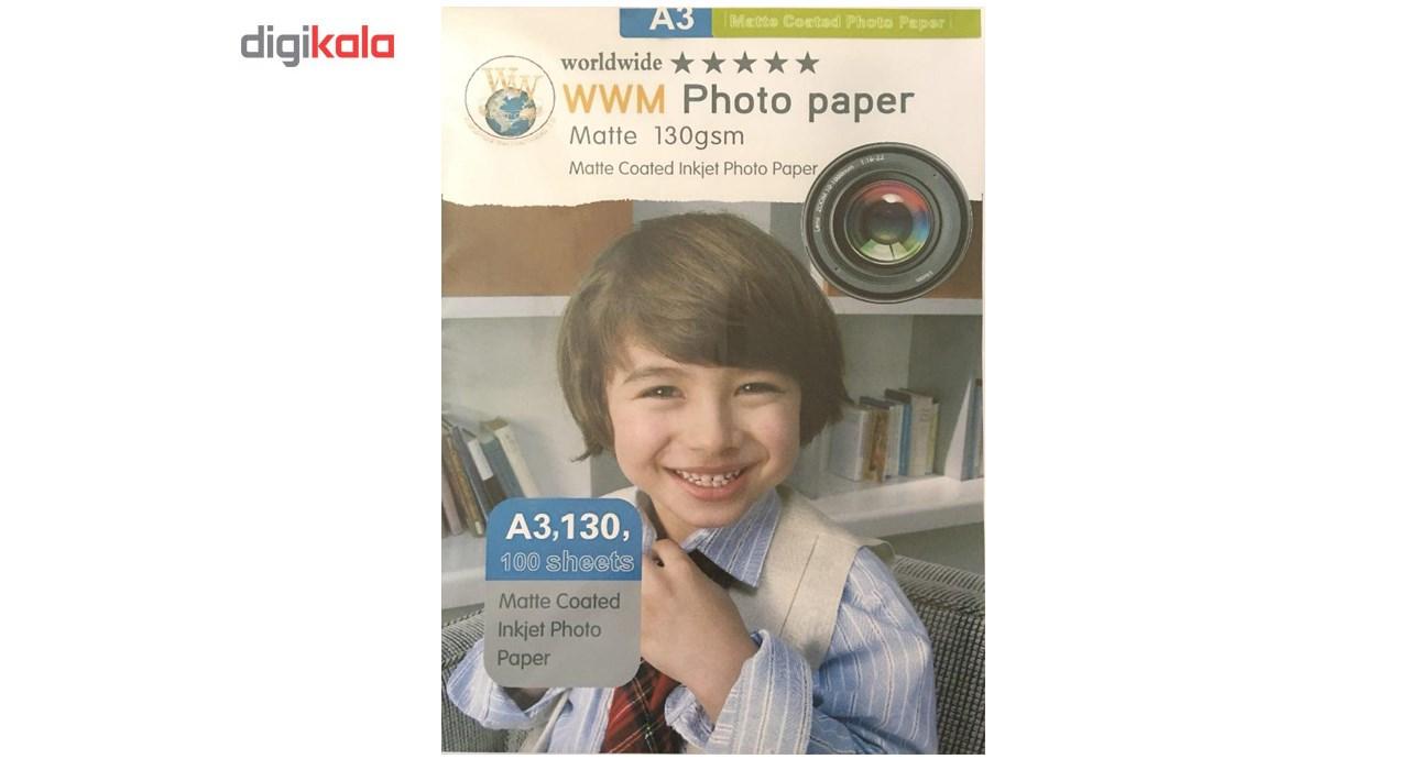 قیمت                      کاغذ عکس ورلدواید مدل Matte G130 سایز A3 بسته 100 عددی