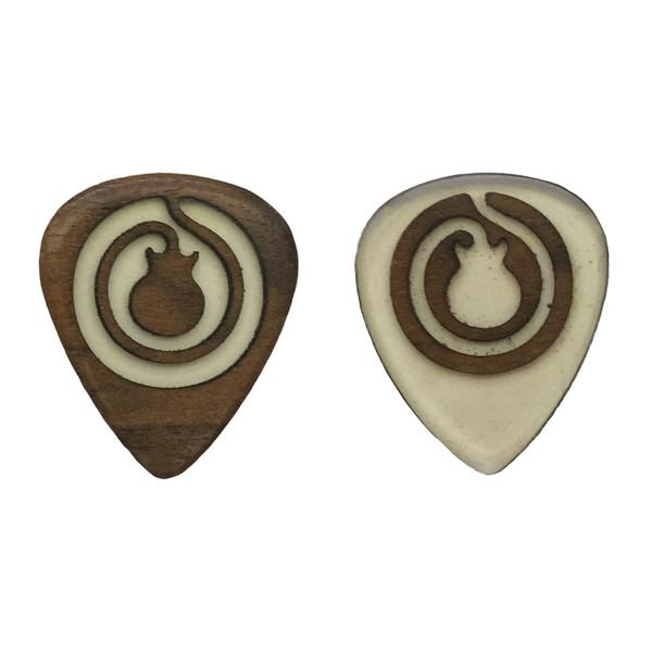 پیک چوبی اپکسی رزین و گردو ترکیبی 3 گیتار چوپیک بسته 2 عددی