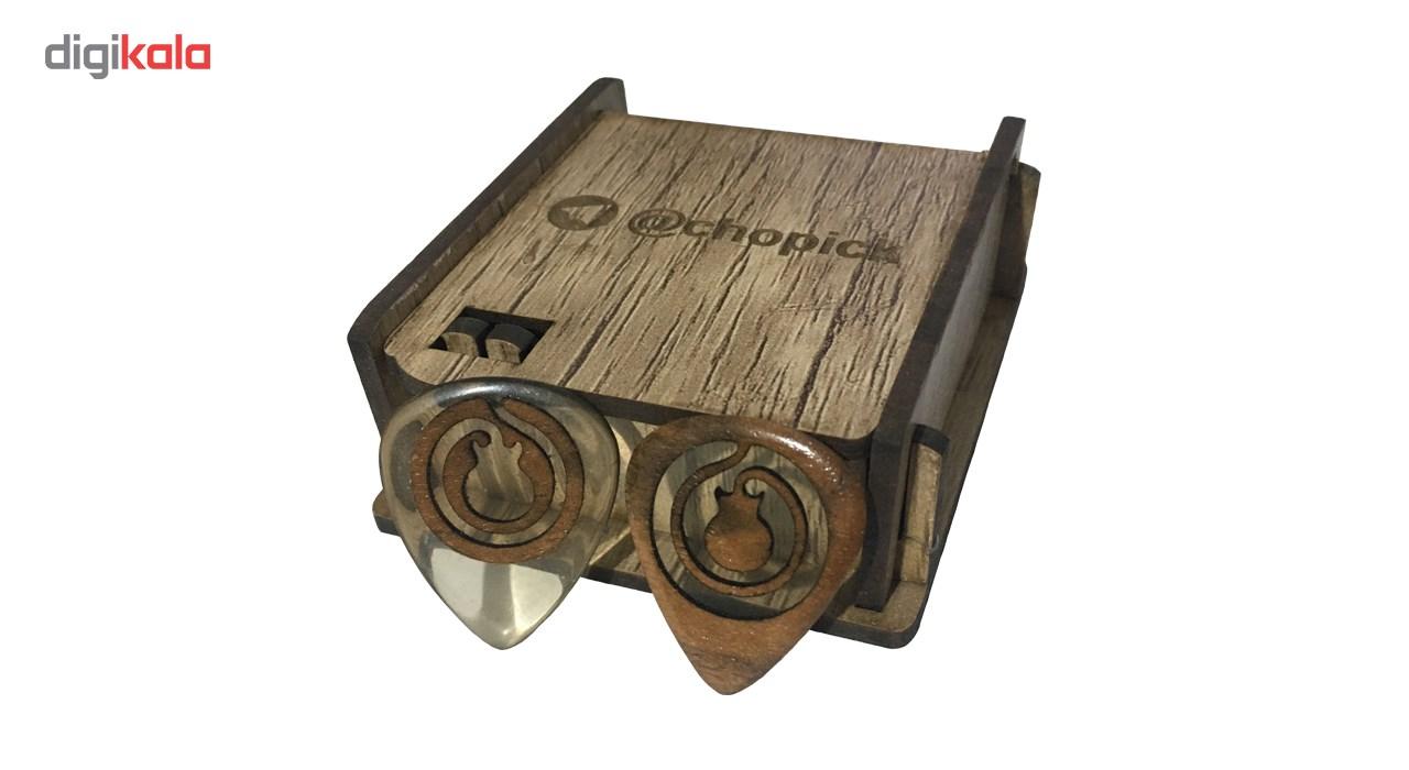 قیمت                      پیک چوبی اپکسی رزین و گردو ترکیبی 3 گیتار چوپیک بسته 2 عددی              ⭐️⭐️⭐️