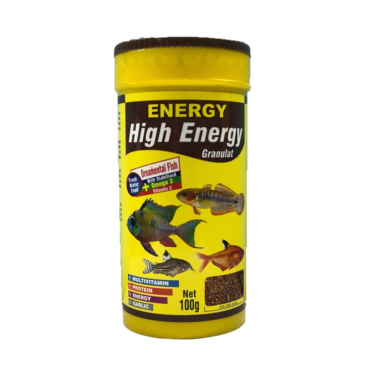 غذای خشک ماهی انرژی گرانول های انرژی 100 گرم