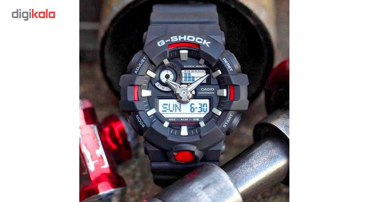 ساعت مچی عقربه ای مردانه کاسیو جی شاک مدل GA-700-1ADR