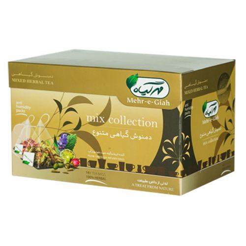 بسته دمنوش گیاهی مهر گیاه مدل Mix Collection بسته 14 عددی