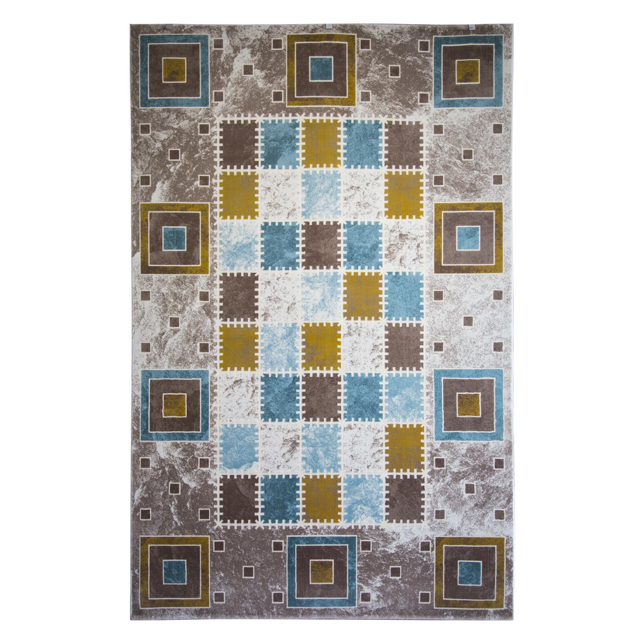 فرش ماشینی ساوین کد 1504 زمینه آبی