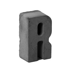 مجسمه بتنی طرح حروف مدل letter R
