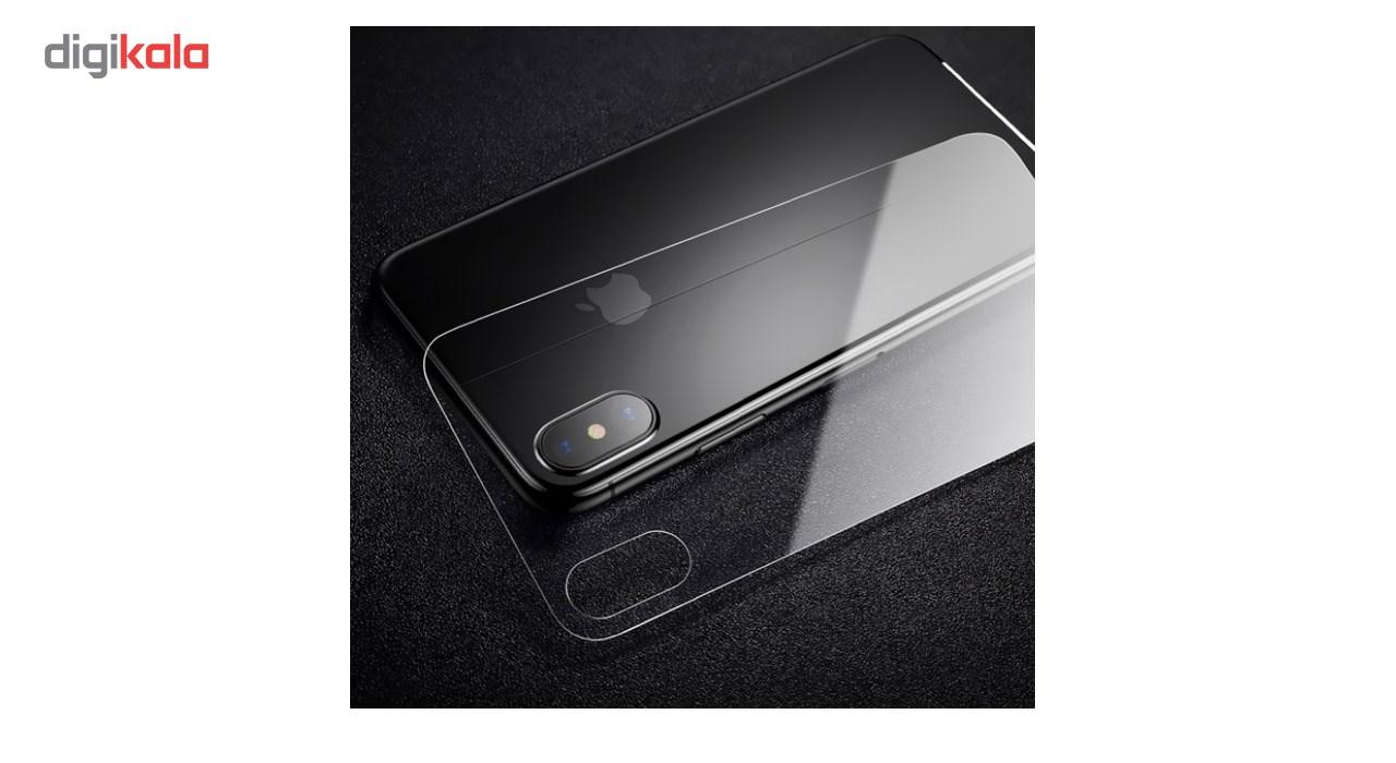 محافظ صفحه نمایش شیشه ای کوالا مدل Tempered مناسب برای گوشی موبایل اپل آیفون X به همراه محافظ پشت Tempered main 1 4