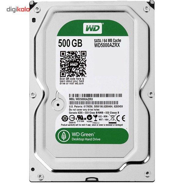 هارددیسک اینترنال وسترن دیجیتال سری سبز مدل WD5000AZRX ظرفیت 500 گیگابایت main 1 1