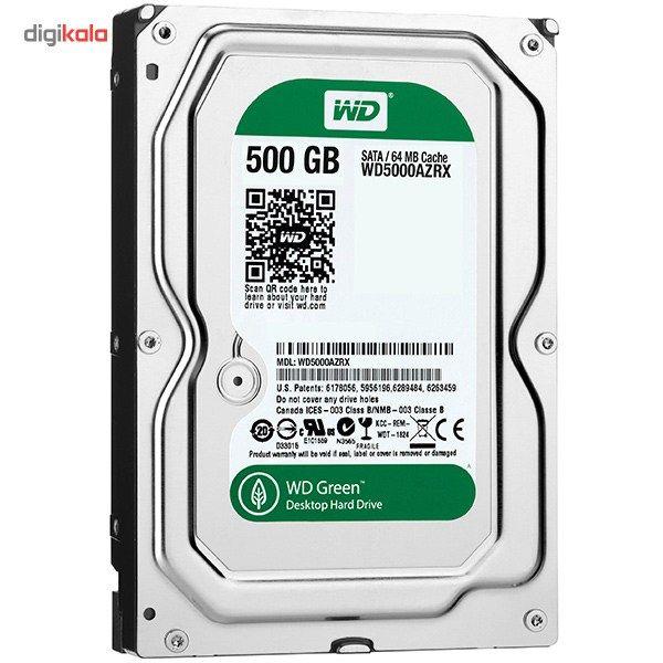 هارددیسک اینترنال وسترن دیجیتال سری سبز مدل WD5000AZRX ظرفیت 500 گیگابایت main 1 2