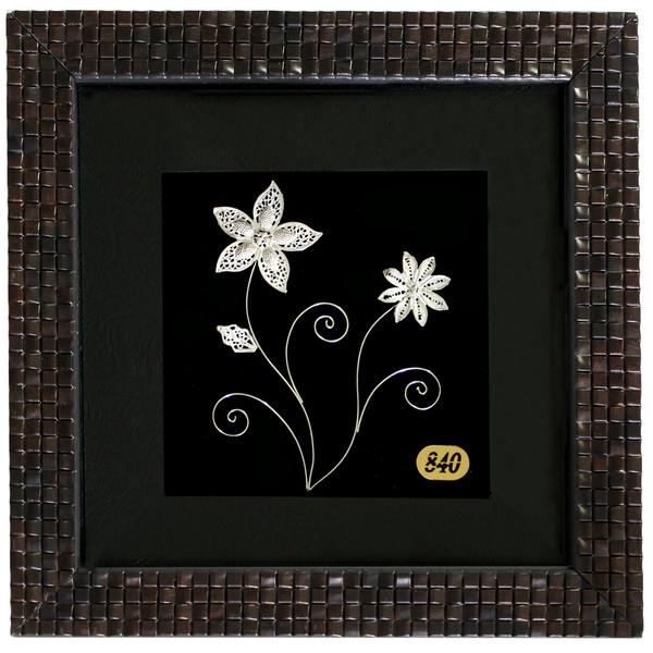 تابلو نقره سالی وان طرح گل های بهاری مدل 11-16