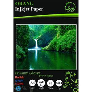 کاغذ عکس اورنگ مدل Premium Glossy سایز A4 بسته 20 عددی