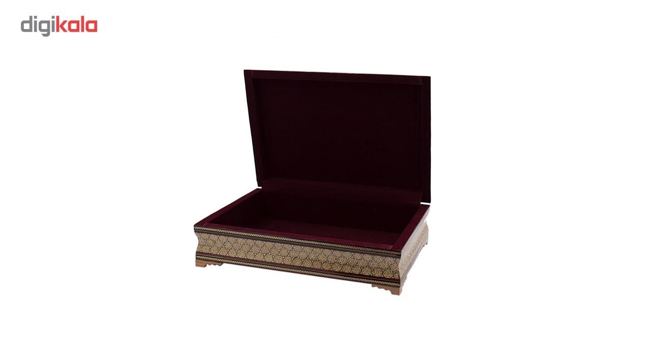 خرید                      جعبه قرآن خاتم کاری رستا طرح 6 -14-101