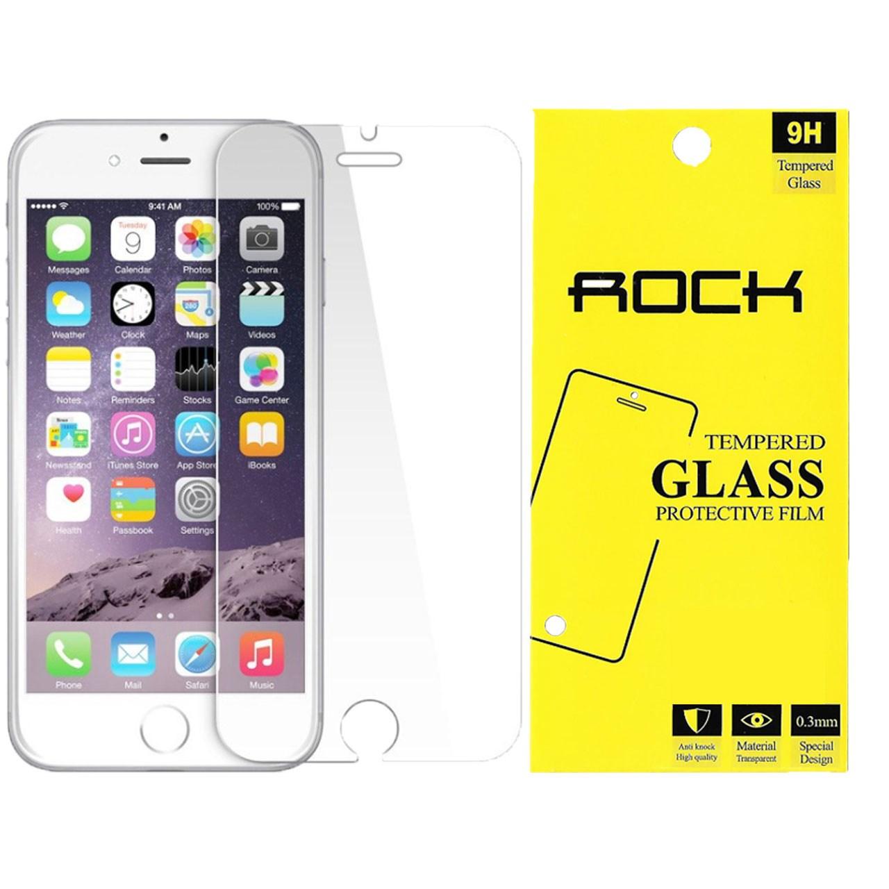 محافظ صفحه نمایش راک مدل 9H TEMPERED مناسب برای گوشی موبایل اپل آیفون 6/6s