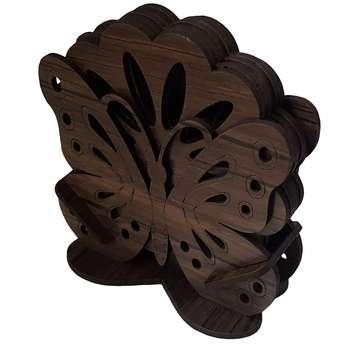 زیر لیوانی برتاریو مدل پروانه بسته 6 عددی