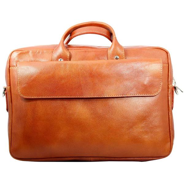 کیف اداری چرم طبیعی چهارنظم مدل 16011LBr