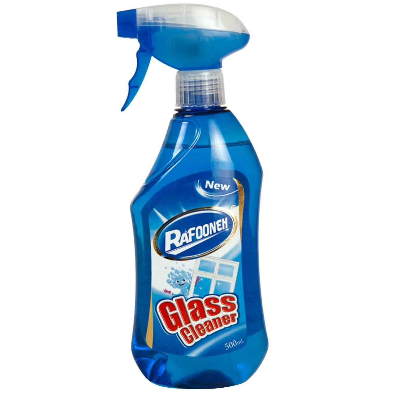 شیشه پاک کن آبی رافونه حجم 500 میلی لیتر