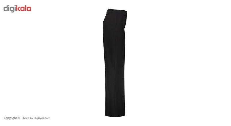 شلوار زنانه دمپا گشاد پارچه ای  مشکی مدل 198